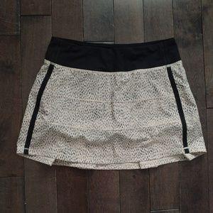Lululemon Pace Rival Skirt Grain Dottie Dash Sz 6